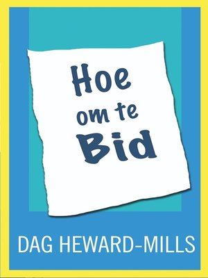 cover image of Hoe om te bid