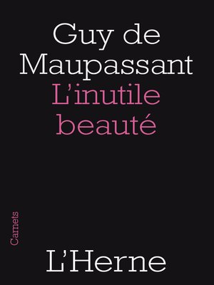 cover image of L'inutile beauté