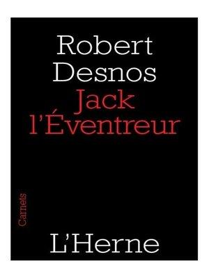 cover image of Jack l'Éventreur