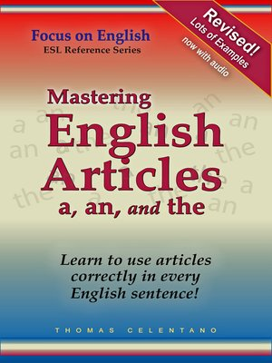 cover image of Mastering English Articles A, AN, and THE