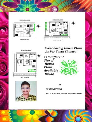 cover image of 110 West Facing House Plans As Per Vastu Shastra (110 Different size of House Plans Available Inside)