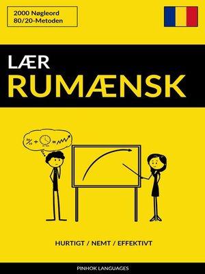 cover image of Lær Rumænsk