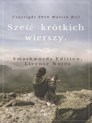 cover image of Sześć krótkich wierszy