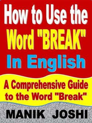 """cover image of How to Use the Word """"Break"""" In English"""