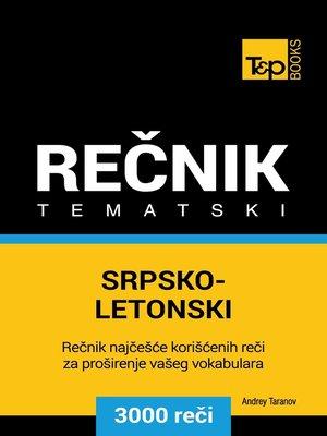 cover image of Srpsko-Letonski tematski rečnik