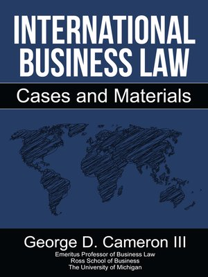 cover image of International Business Law