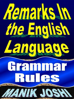 cover image of Remarks in English Language