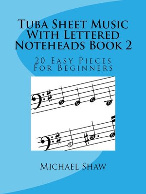cover image of Tuba Sheet Music With Lettered Noteheads Book 2