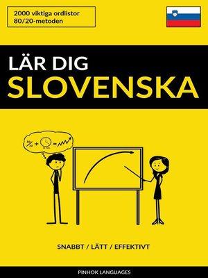 cover image of Lär dig Slovenska