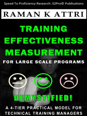 cover image of Training Effectiveness Measurement for Large Scale Programs