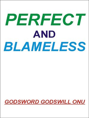 cover image of Perfect and Blameless