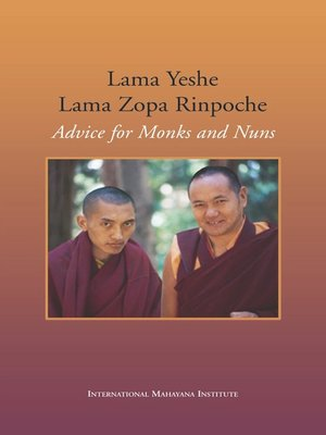 cover image of Advice for Monks and Nuns