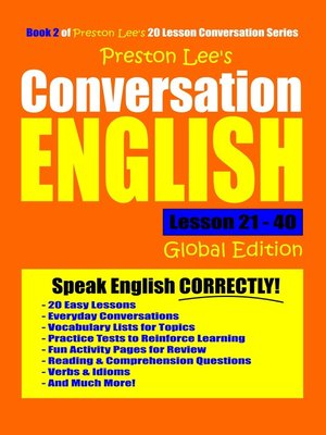 cover image of Preston Lee's Conversation English Global Edition Lesson 21