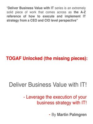 cover image of TOGAF Unlocked (The Missing Pieces)