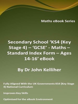 cover image of Secondary School 'KS4 (Key Stage 4) – GCSE--Maths – Standard Index Form – Ages 14-16' eBook