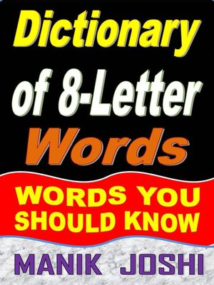 cover image of Dictionary of 8-Letter Words