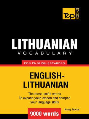 cover image of Lithuanian vocabulary for English speakers