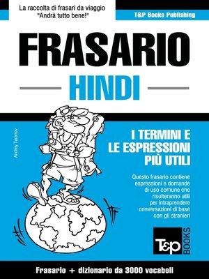 cover image of Frasario Italiano-Hindi e vocabolario tematico da 3000 vocaboli