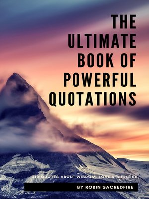 cover image of The Ultimate Book of Powerful Quotations