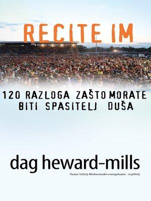 cover image of Recite Im 120 Razloga Zašto Morate Biti Spasitelj Duša