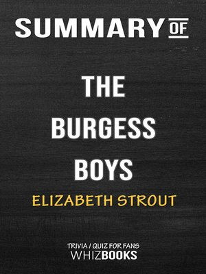 cover image of Summary of the Burgess Boys