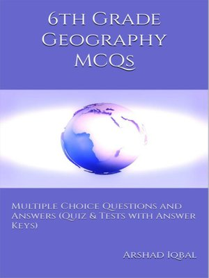 cover image of 6th Grade Geography MCQs