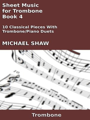 cover image of Sheet Music for Trombone