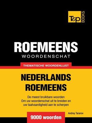 cover image of Thematische woordenschat Nederlands-Roemeens
