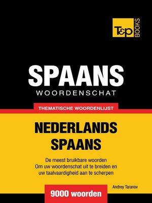 cover image of Thematische woordenschat Nederlands-Spaans
