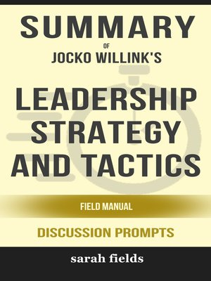 cover image of Summary of Leadership Strategy and Tactics