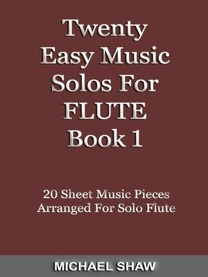 cover image of Twenty Easy Music Solos For Flute Book 1
