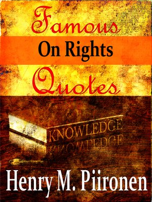 cover image of Famous Quotes on Rights