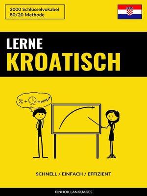 cover image of Lerne Kroatisch