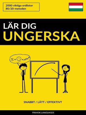 cover image of Lär dig Ungerska