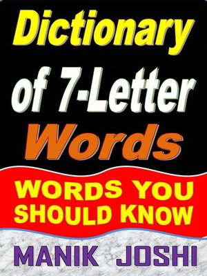 cover image of Dictionary of 7-Letter Words