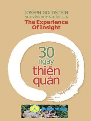 cover image of 30 ngày Thiền quán.
