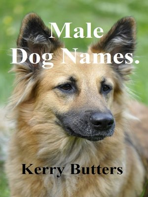 cover image of Male Dog Names.