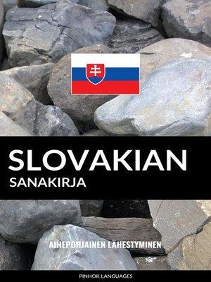 cover image of Slovakian sanakirja