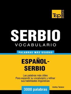 cover image of Vocabulario Español-Serbio