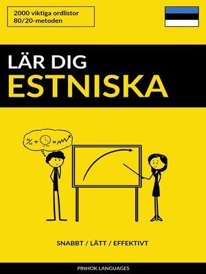 cover image of Lär dig Estniska
