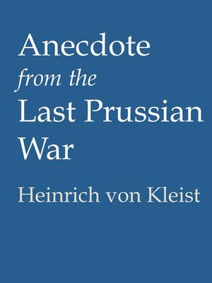 cover image of Anecdote from the Last Prussian War