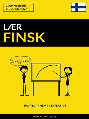 cover image of Lær Finsk