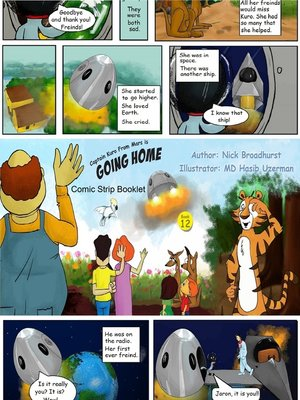 cover image of Captain Kuro From Mars Is Going Home Comic Strip Booklet
