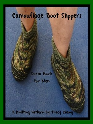 Camouflage Boot Slippers Dorm Boots For Men Knitting Pattern By