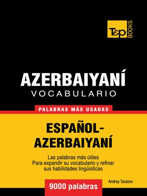 cover image of Vocabulario Español-Azerbaiyaní