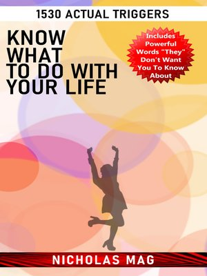 cover image of Know What to Do with Your Life