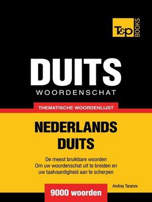 cover image of Thematische woordenschat Nederlands-Duits