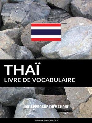 cover image of Livre de vocabulaire thaï