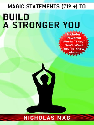 cover image of Magic Statements (719 +) to Build a Stronger You