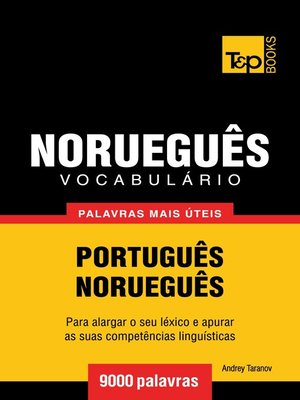 cover image of Vocabulário Português-Norueguês